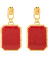 Balenciaga | Marble-effect Gold-plated Clip-on Earrings | Lyst