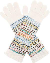 Missoni - Logo Knitted Wool-blend Gloves - Lyst