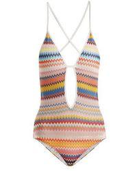Missoni - Zigzag Knit Swimsuit - Lyst