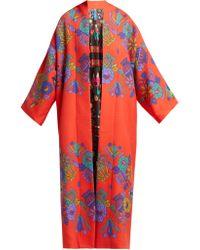 Rianna + Nina - Freia Floral-print Wool Coat - Lyst