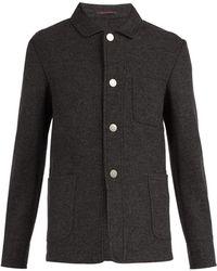 The Gigi - Point Collar Wool-blend Blazer - Lyst