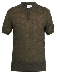 Brioni - Point-collar Wool-blend Knit Polo Shirt - Lyst