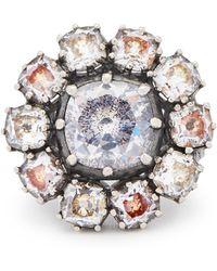 Bottega Veneta - Anello Cubic-zirconia And Sterling-silver Ring - Lyst