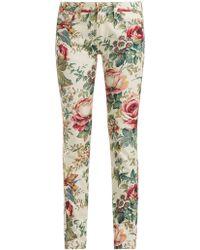 Junya Watanabe - Floral-print Slim-fit Jeans - Lyst