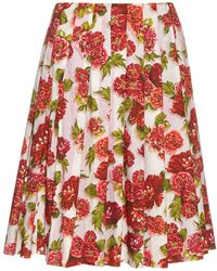 Emilia Wickstead - Polly Floral-print A-line Skirt - Lyst
