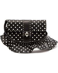 Valentino - Rockstud Polka Dot Cross Body Leather Bag - Lyst