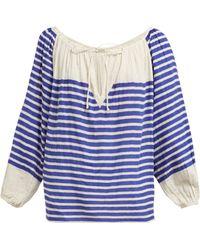 Mes Demoiselles - Bretonne Striped Cotton Blouse - Lyst