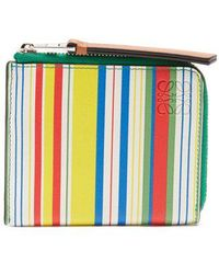 Loewe - Multicoloured Zip-around Leather Wallet - Lyst