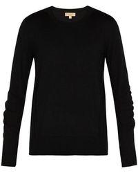 Burberry - Checked Merino Wool Jumper - Lyst