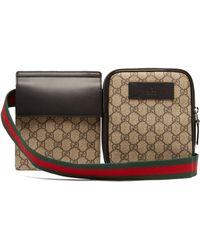 Gucci - Sac ceinture à bandes Web Suprême GG - Lyst