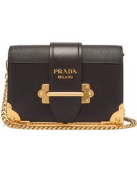 6c527ecafcf8 Prada - Cahier Leather Shoulder Bag - Lyst
