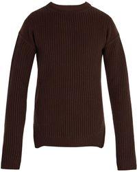 Rick Owens - Fisherman Ribbed Wool Sweater - Lyst