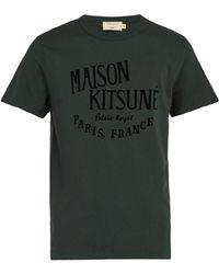 Maison Kitsuné - Palais Royal Logo-print Cotton T-shirt - Lyst