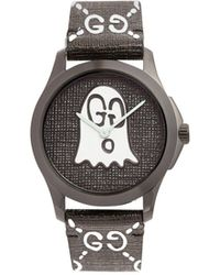 Gucci - Gg-ghost Textured-leather Watch - Lyst