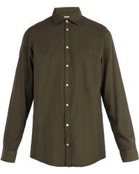 Massimo Alba - Long Sleeved Cotton Blend Shirt - Lyst