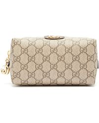 8c78b024150f Gucci Bengal-print Gg Supreme Canvas Chain Wallet - Lyst