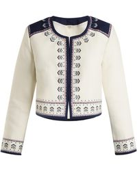 Talitha - Talia Embroidered Cotton Jacket - Lyst