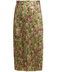 Vetements - Floral Print Pleated Midi Skirt - Lyst