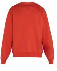 Acne Studios - Flogho Crew Neck Cotton Sweatshirt - Lyst