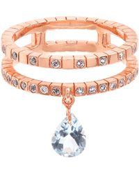 Diane Kordas - Diamond, Topaz & Rose-gold Cosmos Ring - Lyst