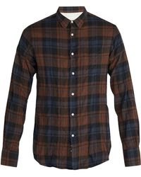 Officine Generale - Lipp Stitch Checked Cotton Shirt - Lyst