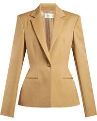 The Row - Francene Single Breasted Stretch Wool Blazer - Lyst