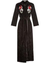 Attico - Mua Embellished Cotton-velvet Robe Coat - Lyst