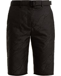 Off-White c/o Virgil Abloh - High Rise Belted Moire Shorts - Lyst