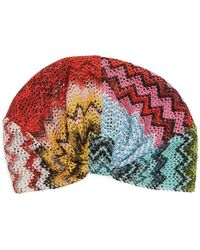 Missoni   Zigzag Knitted Turban   Lyst