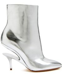 Maison Margiela - Suspended-heel Leather Ankle Boots - Lyst