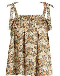 Loup Charmant - Turen Floral-print Cotton Top - Lyst