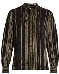Zeus+Dione - Elis Geometric-jacquard Silk-blend Shirt - Lyst