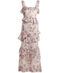 Brock Collection - Darwin Floral-print Cotton-voile Dress - Lyst