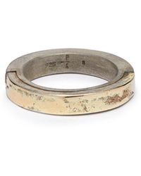 Parts Of 4 - Sistema 18kt Gold Plated & Sterling Silver Ring - Lyst