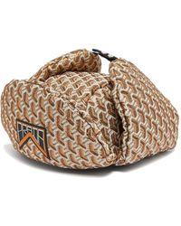 Prada - Twist Jacquard Brocade Trapper Hat - Lyst