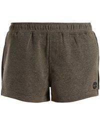 The Upside - - Elasticated Waist Performance Shorts - Womens - Grey - Lyst