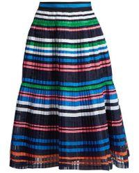 MUVEIL - Ribbon-striped Pleated Organza Skirt - Lyst