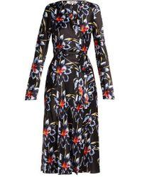 Diane von Furstenberg - Tilly Lanell-print Silk Wrap Dress - Lyst