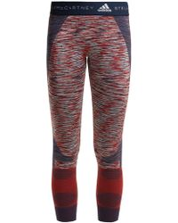 Adidas By Stella McCartney | Yoga Seamless Space-dye Performance Leggings | Lyst