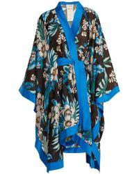 Diane von Furstenberg - Floral-print Cotton And Silk-blend Kimono - Lyst