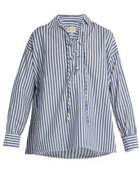 Nili Lotan - Shiloh Striped Cotton-poplin Shirt - Lyst