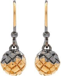 Bottega Veneta - Intrecciato-engraved Drop Earrings - Lyst