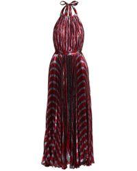 Maria Lucia Hohan - Inais Halter Neck Silk Blend Dress - Lyst