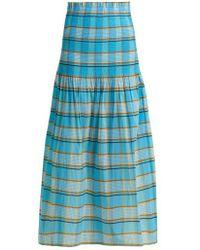 Diane von Furstenberg - Horizon Checked Skirt - Lyst