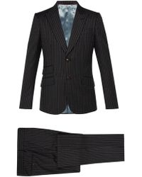 Gucci - Heritage Logo Print Wool Suit - Lyst