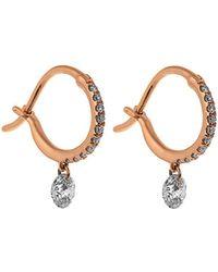 Raphaele Canot - Set Free Diamond & Pink-gold Earrings - Lyst