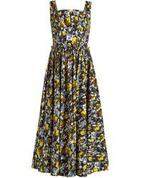 Marni | Square-neck Tulip-print Dress | Lyst