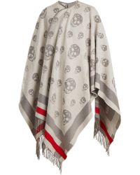 Alexander McQueen | Skull Wool And Cashmere-blend Cape | Lyst