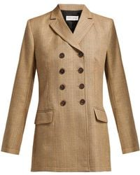 Sonia Rykiel - Double-breasted Prince Of Wales-check Wool Jacket - Lyst