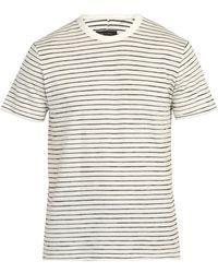 Rag & Bone - Railroad Stripe Cotton Blend T Shirt - Lyst